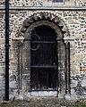 Castle Hedingham, St Nicholas' Church, Essex England, chancel south door.jpg