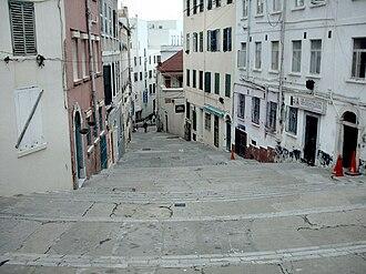 Streets in Gibraltar - Castle Street