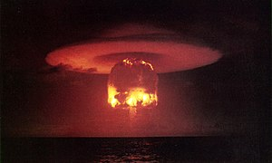 Nuclear holocaust - Mushroom cloud from the explosion of Castle Romeo in 1954.