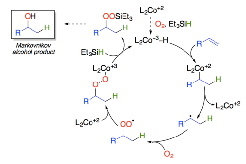 Proposed catalytic cycle based on work by Nojima
