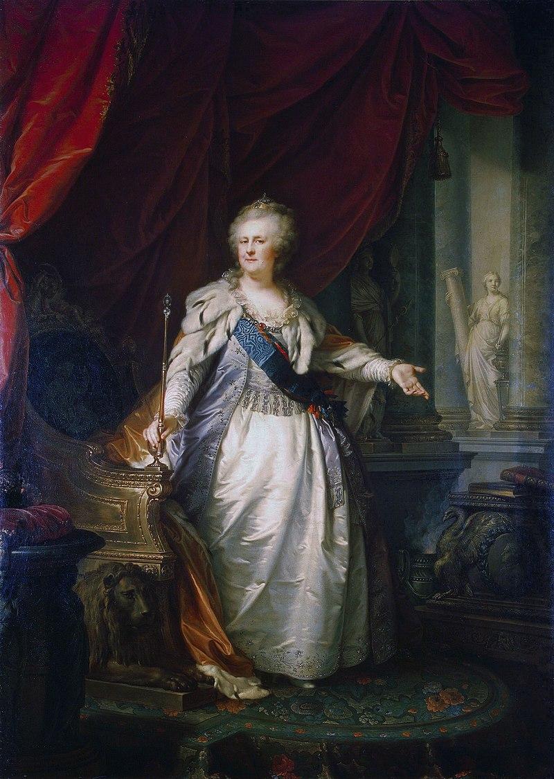 Екатерина II - Я. Б. Лампи (1793, Эрмитаж) FXD.jpg