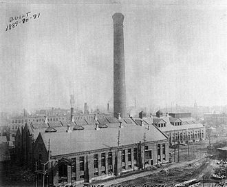 Boston Elevated Railway - The Central Power Station of the West End Street Railway in the South End, built 1889-91