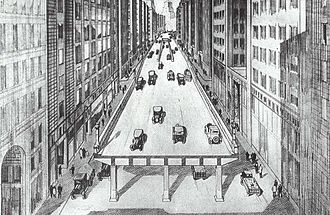 Central Artery - A 1920 plan for Boston's Central Artery, based on the West Side Elevated Highway