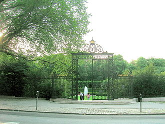 Conservatory Garden - The Vanderbilt Gate leads to the formal central section.