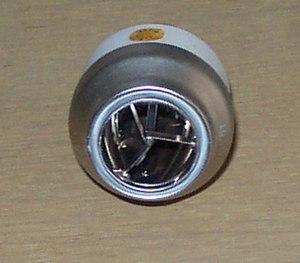 A Perkin-Elmer 420 W Cermax Xenon short-arc lamp.