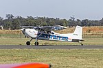 Cessna A185E Skywagon (VH-RKZ) taxiing at Temora Airport.jpg