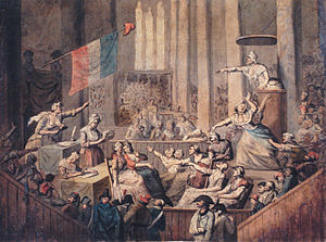 Women in the French Revolution - Club of patriotic women in a church