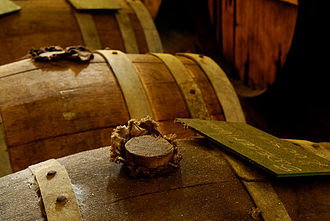 Bung - Bung in the bunghole of a wine barrel