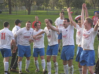 Champion - Final Day of the 2009 season, Fitzroy celebrate their first championship in nine years.