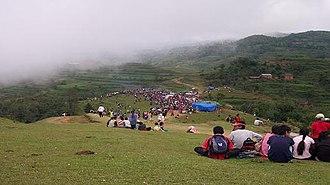 Bhojpur District, Nepal - Chandi Bazar: A famous spot of Kirat Rai Ubhauli festival in Balankha