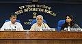 Chandresh Kumari Katoch addressing the media persons, in New Delhi. The Secretary, Ministry of Culture, Shri Ravindra Singh and the Principal Director General (M&C), Press Information Bureau.jpg