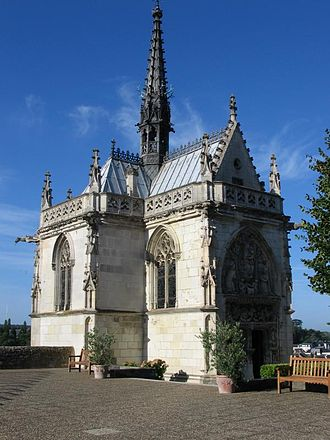 Château d'Amboise - The chapel of Saint-Hubert where Leonardo da Vinci is buried