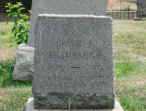 Charles Shambaugh - Grave of Charles Shambaugh at Prospect Hill Cemetery in Washington, D.C.