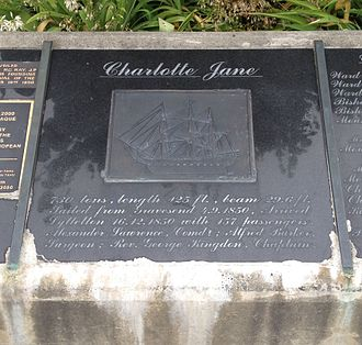 Charlotte Jane - Marble plaques in Cathedral Square