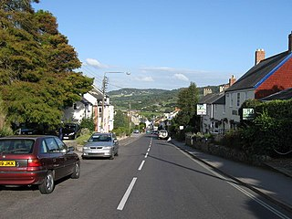 Charmouth village in Dorset, England