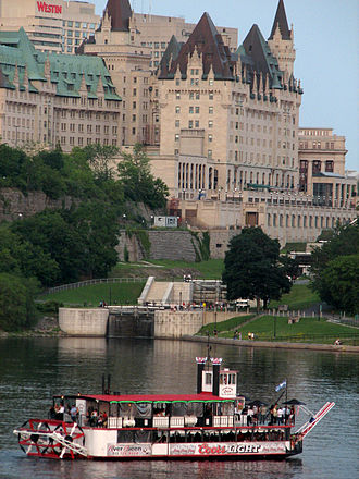 Château Laurier - Château Laurier seen from across the Ottawa river