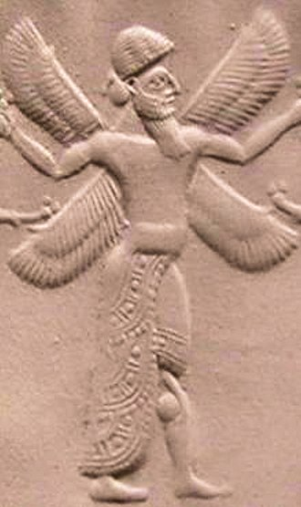 Neo-Assyrian Empire - Cherub on a Neo-Assyrian seal, ca. 1000-612 BC
