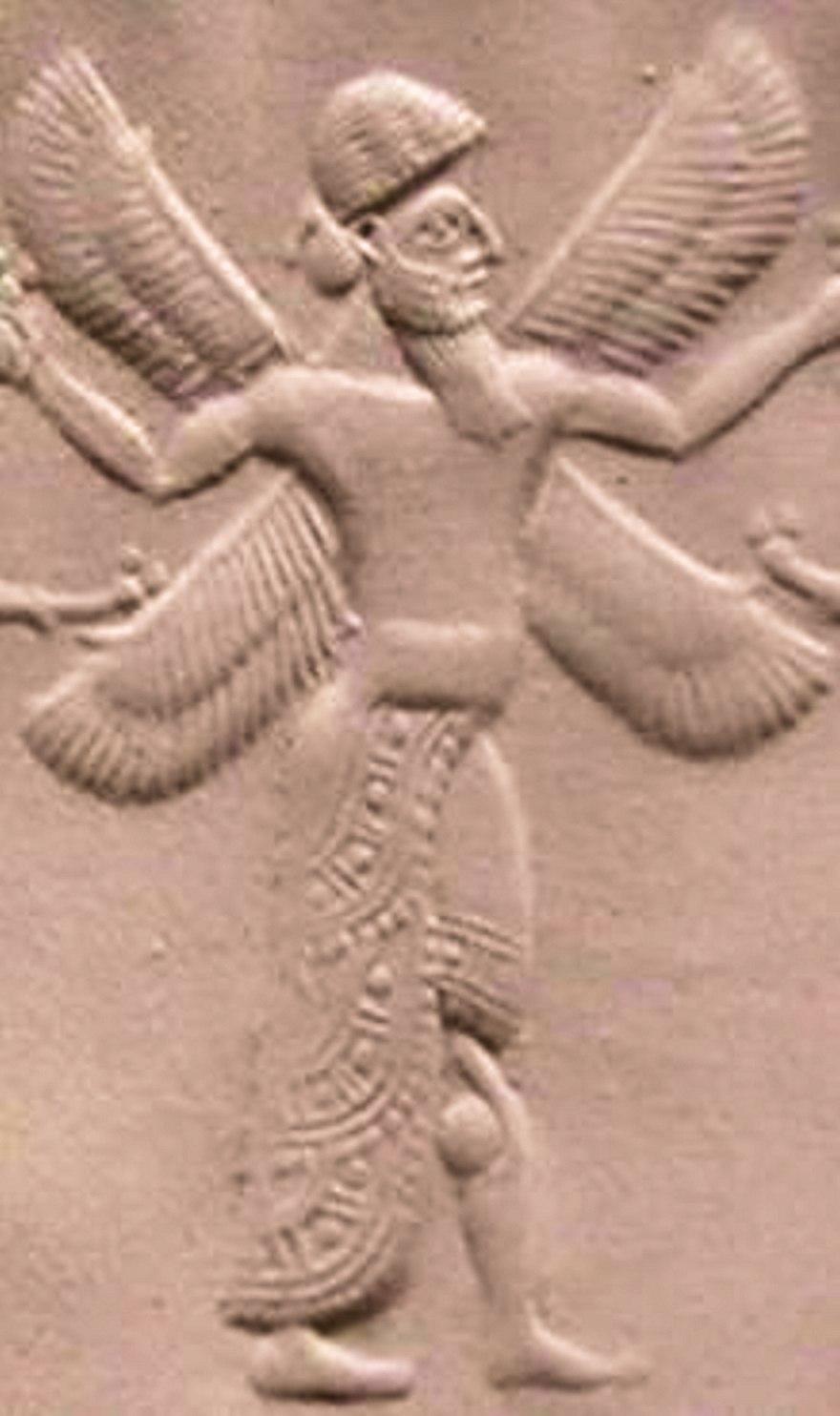 Cherub on a Neo-Assyrian seal