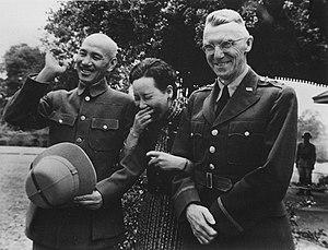 Joseph Stilwell - Stilwell with Generalissimo Chiang Kai-shek and Madame Chiang Kai-shek