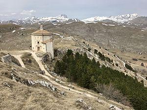 Rocca Calascio - Santa Maria della Pietà and Rocca Calascio.