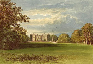 Chillingham Castle - A 19th-century depiction of the castle