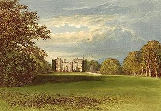 Chillingham Castle - A 19th-century depiction of the castle