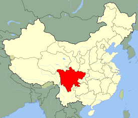 Szechuan is highlighted on this map
