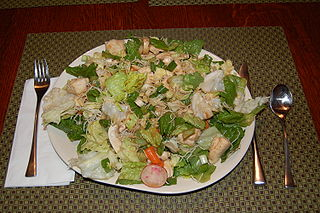 Chinese chicken salad American chicken salad with Chinese inspired ingredients
