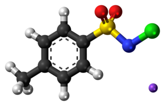 Chloramine-T - Image: Chloramine T 3D balls
