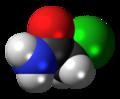 Chloroacetamide molecule spacefill.png