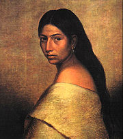 A Choctaw Belle, Painted by P. Romer