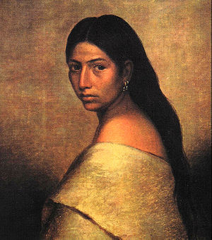 Squaw - Portrait of a young Choctaw woman, 1850