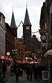 Christmas Market Kaiserslautern 2009 Stiftskirche Marktstrasse.JPG