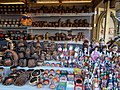 Christmas market 2015 Erzsébet Square. Dolls and other souvenirs from Budapest.JPG