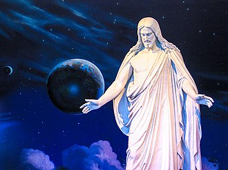 God in Mormonism - Latter-day Saints believe in the resurrected Jesus Christ, as depicted in the Christus statue in the North Visitors' Center on Temple Square in Salt Lake City