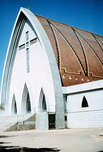 Christianity in Chad - The cathedral in N'Djamena, Chad, as it was before it was severely damaged during the civil war.