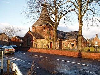 Lostock Gralam village in the United Kingdom