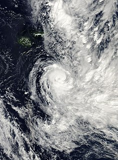 Cyclone Cliff Category 2 South Pacific cyclone in 2007