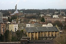 Clifton Cathedral (background left) with ProCathedral (foreground right)