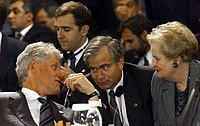 Sandy Berger with President Clinton and Madeleine Albright