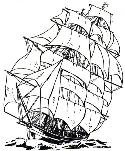 historic ship coloring pages - photo#8
