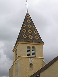 Clocher de l'église de Couchey.JPG
