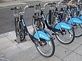 Close-up of Bikes in Barclays Bike Hire Docking Station on Elizabeth Bridge - geograph.org.uk - 2021144.jpg