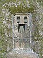 Close up of a bench mark - geograph.org.uk - 1772303.jpg
