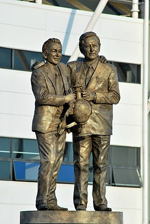 Pride Park Stadium - Clough and Taylor statue.