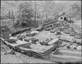 Coal cars on tracks leading from the mine to tipple. P V & K Coal Company, Clover Gap Mine, Lejunior, Harlan County... - NARA - 541301.tif