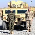 Coalition advisers in south transfer up-armored humvee traiing course to full Afghan control (6417513269).jpg