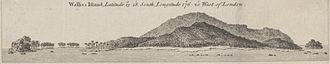 Wallis and Futuna - Coastal view of Wallis island by captain James Cook in 1773