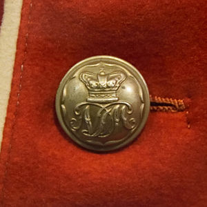 Militia and Volunteers of County Durham - Band boy's tunic button of the North Durham Militia c. 1860s from the Durham Light Infantry museum