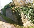Cobbled Garden Wall at Langney Priory, Langney, Eastbourne (NHLE Code 1043641) (October 2012).JPG